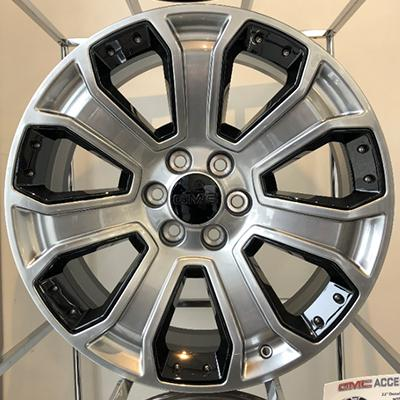 22 Inch Denali Style 7 Spoke Rim with Black Inserts