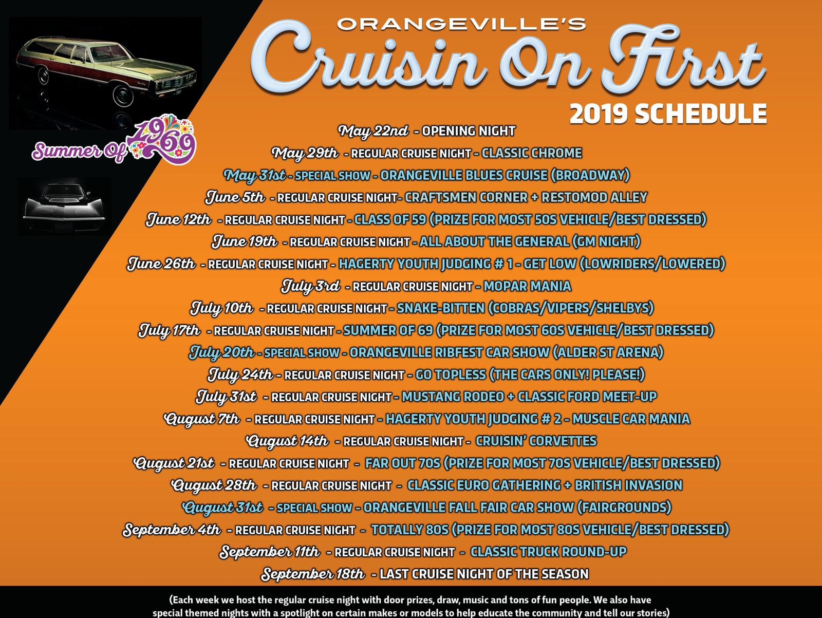 Cruisin' on First Events